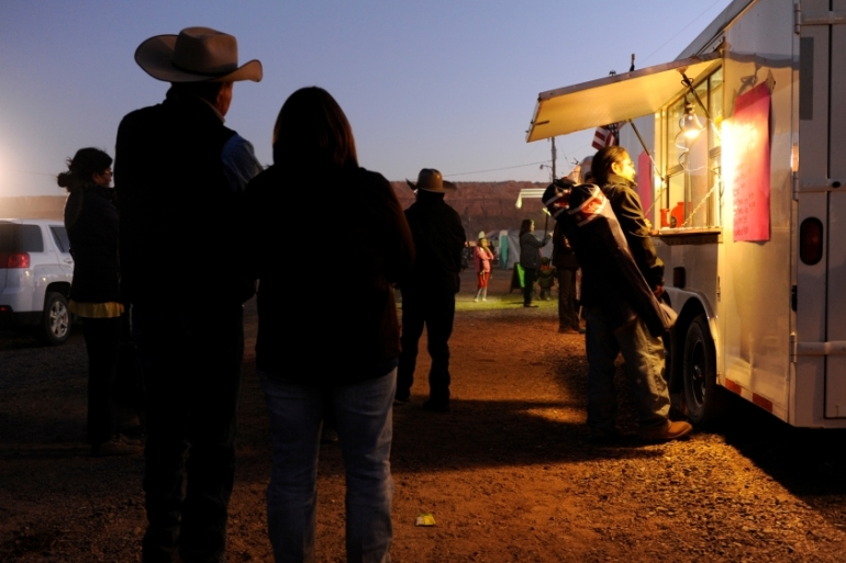 Food security impacts everyday life for many Navajo across their tribal lands [Andrew Cullen/Reuters]