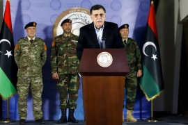 The UN Support Mission in Libya and the parliament in Tripoli had also called on al-Serraj to defer his decision, citing 'reasons of higher interest' [File: AFP]