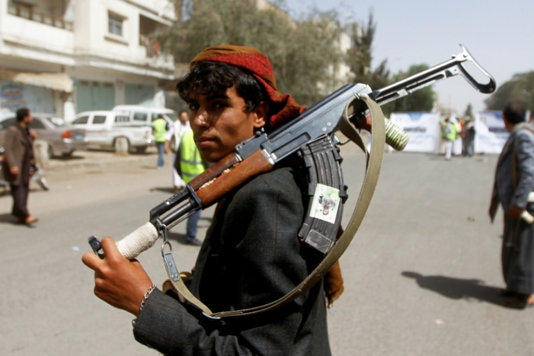 The Houthis want air and sea blockades to be lifted before agreeing to a truce [File: Mohamed al-Sayaghi/Reuters]