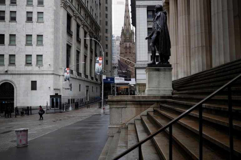 Us Stocks Rise Driven By Tech Sector And Easing Of Lockdowns Us Canada News Al Jazeera