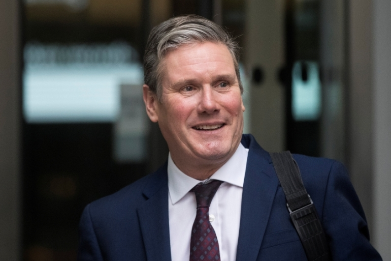 Starmer's comments are controversial for advocates of the Kashmiri cause, as they believe the region should have the right to self-determination via a referendum [Simon Dawson/Reuters]