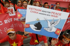 Vietnam and China have frequently collided diplomatically over the disputed islands in the South China Sea [File: Ahn Young-joon/AP]