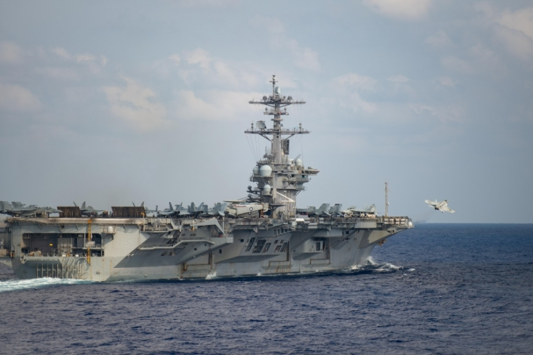 The US rejects China's maritime claims in the South China Sea 'to the extent they exceed the maritime zones' permitted under international law [File: Nicholas V Huynh/Handout via Reuters]