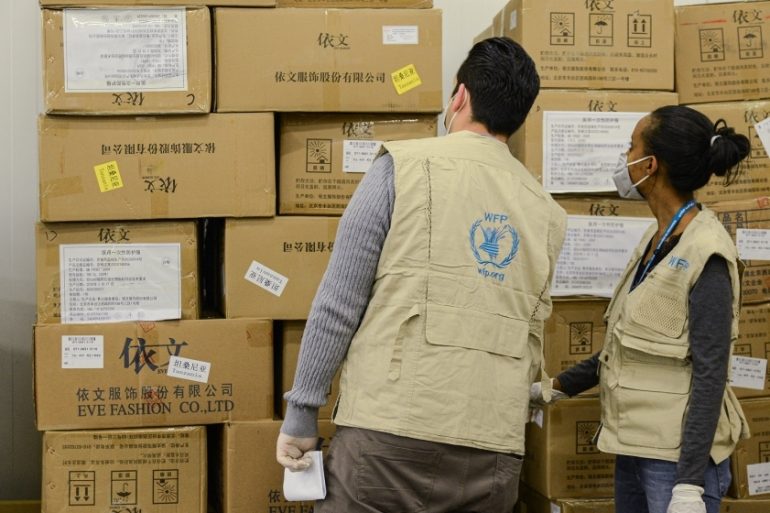 The WFP expects to need $10-$12bn to fund its assistance programmes this year [Samuel Habtab/AFP]