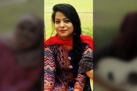 Zargar says she still lives in fear of being separated from her infant son [Photo courtesy: Safoora Zargar's family]