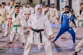 Following in Kulsoom's footsteps, several martial arts and sport champions have emerged from Quetta's Hazara community over the past 10 years [Shameen Khan/Al Jazeera]