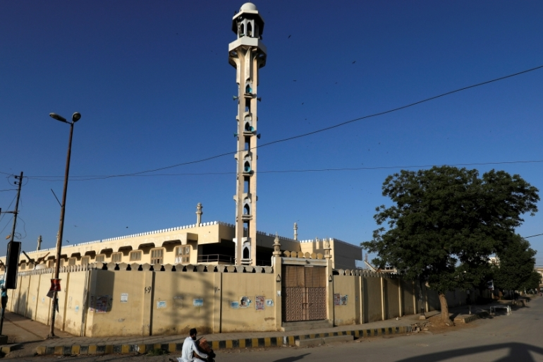 The Tablighi mosques and the movement's other places of worship were shut down or marked as quarantine centres at the end of March [Akhtar Soomro/Reuters]