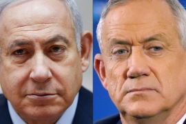 Israeli Prime Minister Benjamin Netanyahu (left) and his former rival, parliament speaker Benny Gantz (right) agreed to form an emergency unity government [Jack Guez, Oded Balilty/AFP]