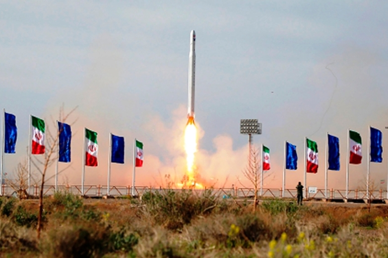Iran's satellite launch was heavily criticised by countries including the UK and France, though Russia defended Iran's right to develop its own space programme [File: Sepahnews via The Associated Press]