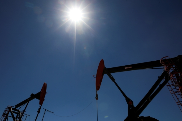 Oil prices fell after Beijing omitted mention of economic growth targets during its National People's Congress, leading to fears that China's demand for energy may fall [File: Agustin Marcarian/Reuters]