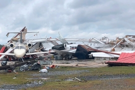 At least 12 people were killed as more than 34 tornadoes hit the southern US [AP]