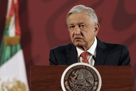 President Andres Manuel Lopez Obrador stood by his 'Mexico First' ideology in the face of strong pressure from the world's leading oil producers to drastically slash oil output [File: Bloomberg]