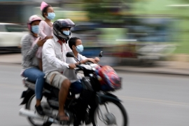 Cambodia has reported 122 cases of the virus that causes COVID-19 and no deaths [File: Tang Chhin Sothy/AFP]