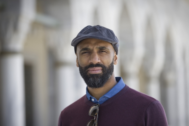 Kanoute, who has played for Lyon, West Ham, Tottenham and Sevilla, was born in France to a Malian family and converted to Islam at the age of 20 [File: Halil Sagirkaya/Anadolu]