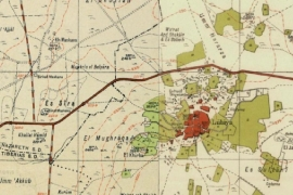 The village of Lubiya is shown in northern Palestine in a pre-1948 map [Screenshot/Palestine Open Maps]