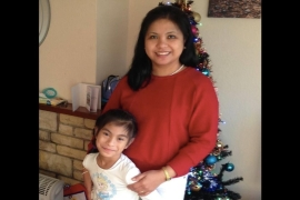 Leilani Medel left the Philippines to pursue a career in nursing in the UK in 2002; she died in April, leaving behind her daughter Medel and husband [Courtesy of family]