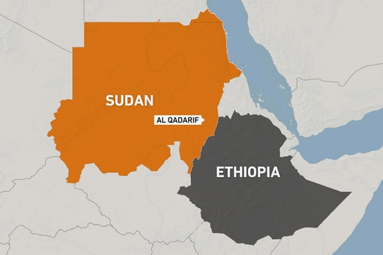 Map of Sudan and Ethiopia [Al Jazeera]