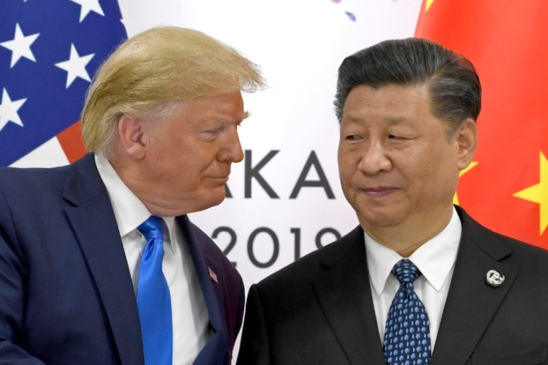 Trump has previously warned of a strong reaction against China and National Security Adviser Robert O'Brien said the legislation could lead to sanctions and threaten Hong Kong's status as a financial hub [File: Susan Walsh/AP]