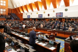 Malaysia's parliament will sit for the first time on Monday since a power grab led to the collapse of the government that had been elected in May 2018. The new administration says the sitting will last for just one day with the king's speech the only item on the agenda because of the coronavirus [File: Vincent Thian/AP]
