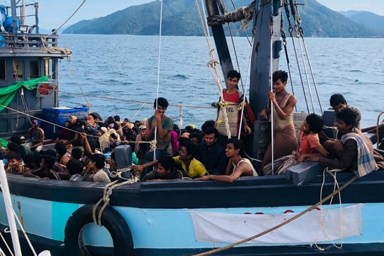 The Rohingya were among those detained in April from a boat off Langkawi [Malaysian Maritime Enforcement Agency handout via AFP]