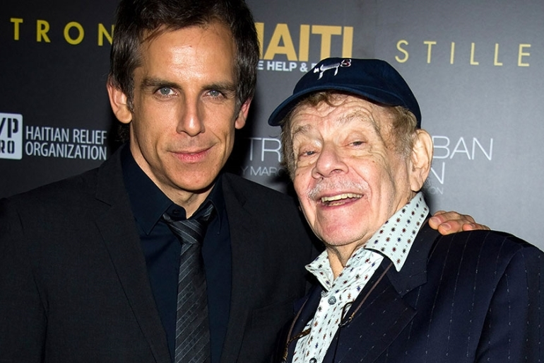 Ben Stiller, left, and his father Jerry Stiller arrive at the Help Haiti benefit in New York [File: Charles Sykes/AP Photo]