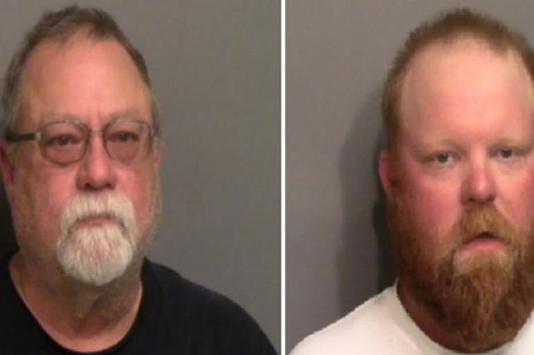 These booking photos released by the Glynn County Sheriff''s Office in Brunswick, Georgia, show Gregory McMichael (L) and his son, Travis McMichael [Glynn County Sheriff''s Office/AFP]
