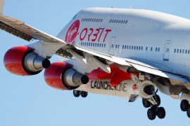 Virgin Orbit is targeting the market for launching satellites ranging in size from toasters to household refrigerators and would be used for commercial work and national security [Mike Blake/Reuters]
