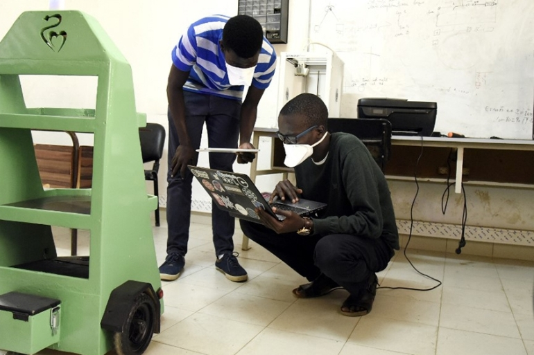Students at Dakar's Ecole Superieure Polytechnique are in talks with hospitals over some of their innovations [Seyllou/AFP]