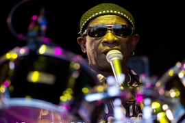 In this picture taken on June 27, 2010, Nigerian drummer Tony Allen performs at Glastonbury festival [File: Leon Neal/AFP]