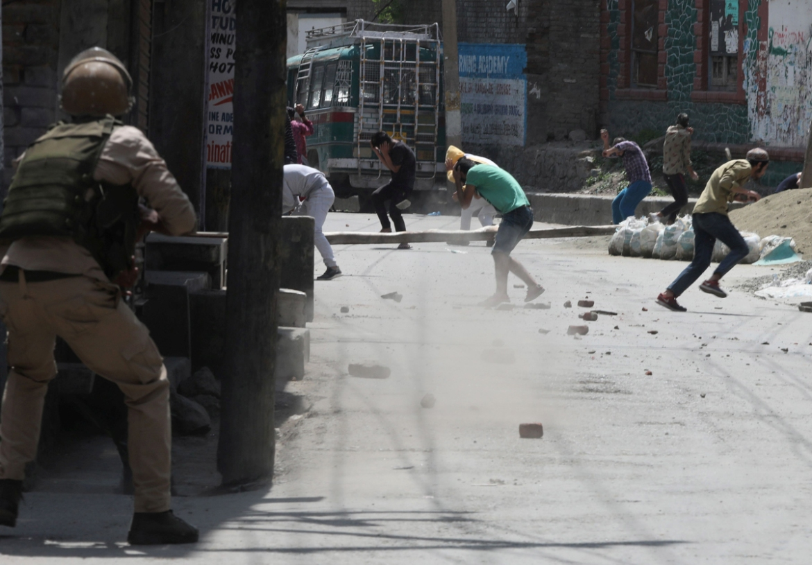 Locals poured onto the streets as news of the killings spread to hurl stones at Indian forces, who fired tear gas and shotgun pellets to disperse them. No injuries were reported.