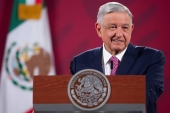Mexico's President Andres Manuel Lopez Obrador speaking during a news conference at the National Palace in Mexico City, Mexico on June 29, 2020 [Mexico''s Presidency/Handout via Reuters]