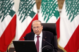 Lebanon''s President Michel Aoun and Prime Minister-designate Saad Hariri have been at loggerheads over government formation for almost five months [File: Mohamed Azakir/Reuters]