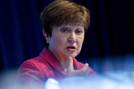 IMF managing director Kristalina Georgieva urged governments to respond to the continued economic and public health uncertainty from the COVID-19 crisis with strong, concerted policy action [File: Andrew Harrer/Bloomberg]