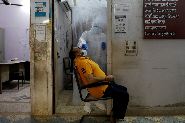 The Indian government has been criticised by experts over a lack of coronavirus testing [Adnan Abidi/Reuters]