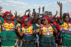Tonse Alliance supporters at a rally in Mtandire, Lilongwe on June 20 [Amos Gumulira/AFP]