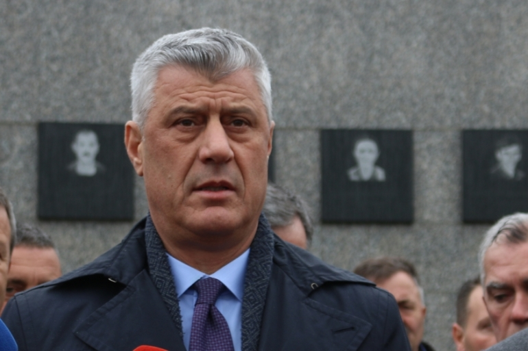 President Thaci was charged with war crimes linked to the 1990s conflict with Serbia [File: Anadolu Agency]