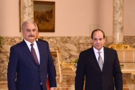 Egyptian President el-Sisi has been one of the foremost allies of Khalifa Haftar [File: Reuters]