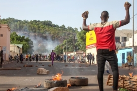Protesters demanding President Ibrahim Boubacar Keita's resignation take to the streets of Bamako on June 19 [File: Baba Ahmed/AP Photo]