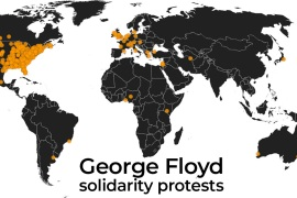 Mapping anti-racism solidarity protests around the world