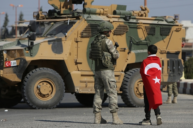 The blast happened in the village of Tal Halaf, held by Turkish forces and their Syrian rebel allies [File: AFP]