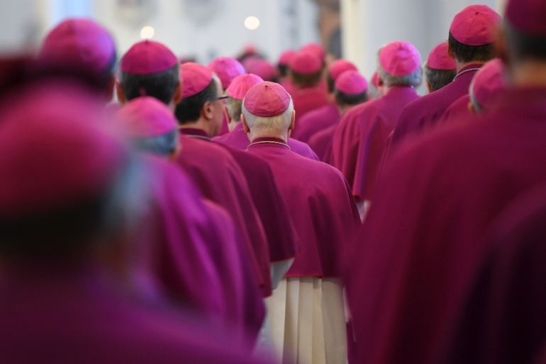 The compensation decision was taken by the German Bishops' Conference unanimously [File: Arne Dedert/dpa via AP]