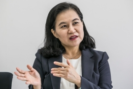 Yoo is the first female trade minister in South Korea and, if selected, would be the first female WTO director-general [File: Jean Chung/Bloomberg]