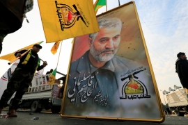 General Qassem Soleimani was killed in an air raid near Baghdad airport in Iraq on January 3 [Thaier al-Sudani/Reuters]