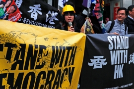 Taiwan has shown its support for the protesters in Hong Kong and the government is due to announce new measures to help Hong Kong people who move to the island [File: Tyrone Siu/Reuters]