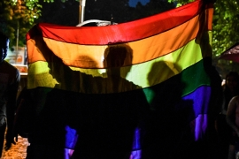 LGBTQ Indians increasingly turned to social media and online communities for support during the lockdown [File: Chandan Khanna/AFP]