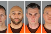 Derek Chauvin, J Alexander Kueng, Thomas Lane and Tou Thao, the four police officers charged with violating George Floyd's civil rights [File: Hennepin County Sheriff's Office/via AP Photo]