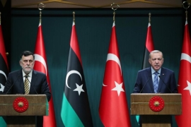 Turkish President Recep Tayyip Erdogan and Libyan Prime Minister Fayez al Sarraj hold a joint press conference at Presidential Complex in Ankara, Turkey on June 4, 2020 [Anadolu]
