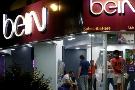 Qatar-based sport network beIN Media Group has long claimed beoutQ was stealing its signal and broadcasting it as its own [File: Mohamed Abd el-Ghany/Reuters]