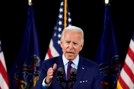 Biden called the allegations against Trump a 'betrayal' to the nation [File: Mark Makela/Reuters]