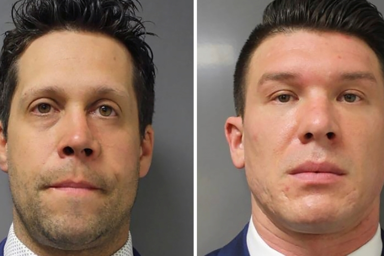 Buffalo Police officers Aaron Torgalski and Robert McCabe both pleaded not guilty to second-degree assault during the virtual arraignment before Buffalo City Court [Reuters]